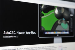 Autocad for Mac Stock Image