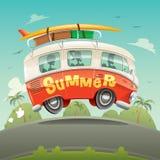 Autocaravana Vacaciones de verano Imágenes de archivo libres de regalías