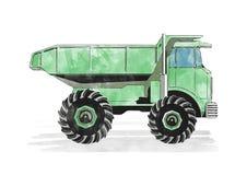 Autocarro con cassone ribaltabile verde fotografia stock libera da diritti