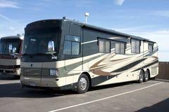 Autocars de luxe neufs du camping-car rv Image libre de droits