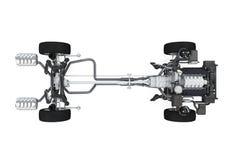Autochassis met motor Stock Fotografie