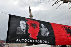 Autochthonous flag, of Great Albania, Prizren Kosovo Royalty Free Stock Photography