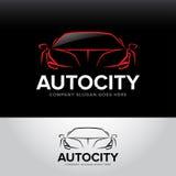 ` Autocity ` samochodowy logotyp - samochód usługa i naprawa, set Samochodowy logo Odosobniony auto tematu logo ilustracja wektor