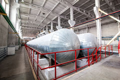 Autoclave for concrete blocks production at factory back view Stock Images