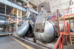 Autoclave for concrete blocks production at factory Royalty Free Stock Images
