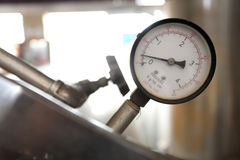 Autoclave gage  pressure monitoring Stock Photos