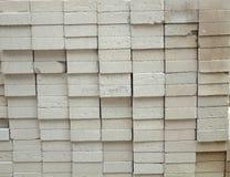 Autoclaved a aéré des blocs de béton Photographie stock libre de droits