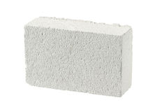 Autoclaved aerated concrete block Royalty Free Stock Photos