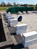 Autoclaved aerated concrete blocks Stock Photo