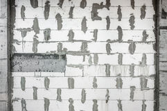 Autoclaved aerated concrete home wall background Royalty Free Stock Images
