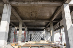 Autoclaved aerated concrete house workplace Stock Photo