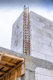 Autoclaved aerated concrete new house building site Stock Photos