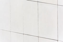 Autoclaved white Aerated Foamed Concrete block wall. Stock Photos