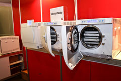 Autoclaves in series Stock Images
