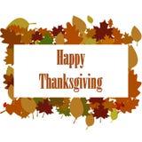 Autocollant, étiquette ou label heureuse de thanksgiving beaux illustration stock