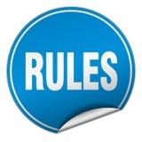 autocollant bleu rond de règles illustration de vecteur