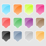 Autocollant coloré pour des produits illustration libre de droits