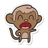 autocollant d'un singe de cri de bande dessinée illustration libre de droits
