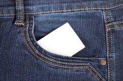 Autocollant dans des jeans de poche Photo stock