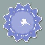 Autocollant de carte de l'Alaska dans des couleurs à la mode Photos libres de droits