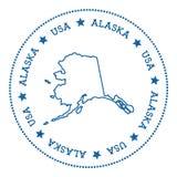 Autocollant de carte de vecteur de l'Alaska Photo stock