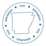 Autocollant de carte de vecteur de l'Arkansas illustration de vecteur