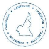 Autocollant de carte de vecteur du Cameroun Photographie stock libre de droits