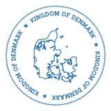 Autocollant de carte de vecteur du Danemark Photo libre de droits