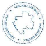 Autocollant de carte de vecteur du Gabon Photo stock