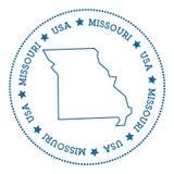 Autocollant de carte de vecteur du Missouri Photos stock