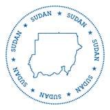 Autocollant de carte de vecteur du Soudan Images stock