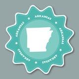 Autocollant de carte de l'Arkansas dans des couleurs à la mode illustration stock