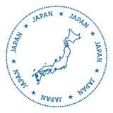Autocollant de carte de vecteur du Japon Image libre de droits