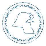 Autocollant de carte de vecteur du Kowéit Photo stock