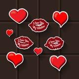 Autocollant de coeur de lèvres d'amour Image stock