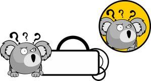 Autocollant de copyspace d'expression de bande dessinée de koala de boule Photographie stock