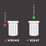 Autocollant de déchets Images libres de droits