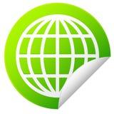 Autocollant de globe Illustration Stock