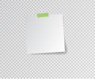 Autocollant de papier avec l'ombre sur le fond transparent Illustration de vecteur photos stock
