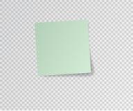 Autocollant de papier avec l'ombre sur le fond transparent Illustration de vecteur Photographie stock