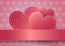 Autocollant de papier de coeur avec la Saint-Valentin d'ombre Photos libres de droits