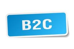 autocollant de place de b2c Images stock