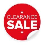 Autocollant de rouge de label de liquidation Images stock