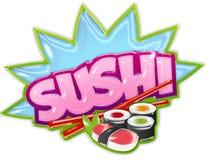 Autocollant de sushi Photos stock