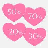 Autocollant de vente de Valentine illustration de vecteur
