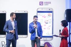 Autocollant de Viber, mode de Bipa heure, Zagreb, Croatie Photographie stock libre de droits