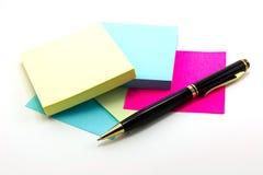 Autocollant et stylo Images stock