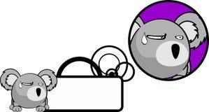 Autocollant incrédule de copyspace d'expression de bande dessinée de koala de boule Photographie stock libre de droits