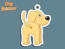 Autocollant mignon de Labrador de chiot de chien de bande dessinée Illustration de vecteur WI Photo libre de droits