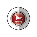 Autocollant moyen d'ombre de Trojan Horse en cercle Photo libre de droits